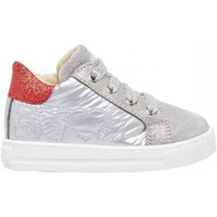 Schuhe Jungen Sneaker Falcotto - Polacchino argento/rosso GOYLE-1Q55 ARGENTO