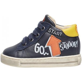Schuhe Jungen Sneaker Falcotto - Polacchino blu/giallo/aran HOGWA-1C58 BLU