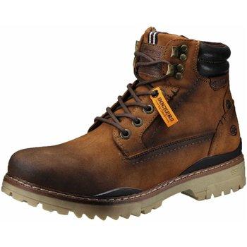 Schuhe Herren Boots Dockers by Gerli Schnürstiefelette Warmfutter 47LY101-620470 braun