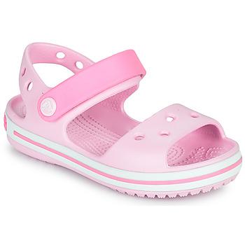 Schuhe Mädchen Sandalen / Sandaletten Crocs CROCBAND SANDAL KIDS Rose