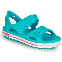 Schuhe Kinder Sandalen / Sandaletten Crocs CROCBAND II SANDAL PS Blau / Rose