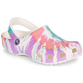 Schuhe Damen Pantoletten / Clogs Crocs CLASSIC TIE DYE GRAPHIC CLOG Multicolor