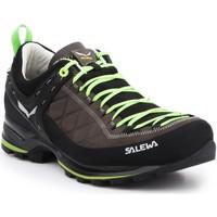 Schuhe Herren Wanderschuhe Salewa Trekkingschuhe  MS MTN Trainer 2 L 61357-0471 braun, schwarz, grün