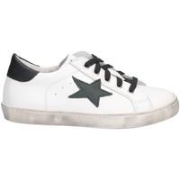 Schuhe Mädchen Sneaker Low Dianetti Made In Italy I9869 Sneaker Kind weiß schwarz weiß schwarz