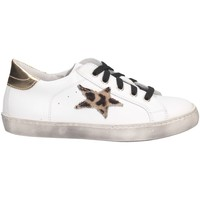 Schuhe Mädchen Sneaker Low Dianetti Made In Italy I9869 Sneaker Kind Weißes Gold Weißes Gold