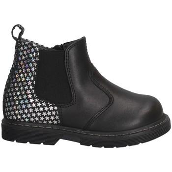 Schuhe Mädchen Low Boots Dianetti Made In Italy I3470 Beatles Kind Schwarz Schwarz
