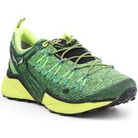 Schuhe Herren Wanderschuhe Salewa Trekkingschuhe  MS Dropline GTX 61366-0953 grün, gelb, schwarz