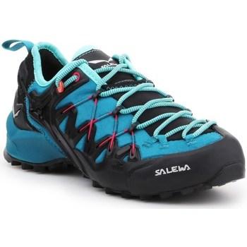 Schuhe Damen Laufschuhe Salewa WS Wildfire Edge Blau, Graphit