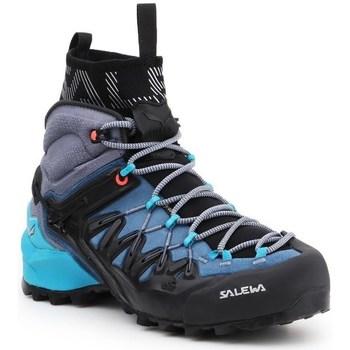 Schuhe Damen Wanderschuhe Salewa WS Wildfire Edge Mid Gtx Schwarz, Blau