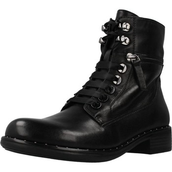 Schuhe Damen Low Boots Regarde Le Ciel ROXANA 04 Schwarz