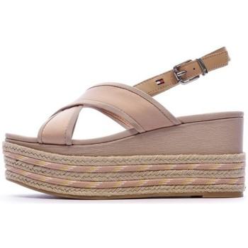 Schuhe Damen Leinen-Pantoletten mit gefloch Tommy Hilfiger FW0FW04779 Rose