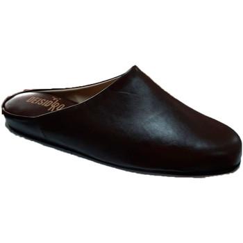 Schuhe Herren Pantoletten / Clogs Deisidro Lederpantoffeln für Herren öffnen sich n Braun