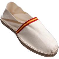 Schuhe Leinen-Pantoletten mit gefloch Made In Spain 1940 Esparto espadrilles Flagge von Spanien M Beige