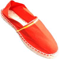 Schuhe Leinen-Pantoletten mit gefloch Made In Spain 1940 Esparto espadrilles Flagge von Spanien M Rot