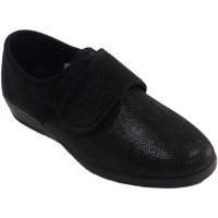 Schuhe Damen Hausschuhe Doctor Cutillas Klettschuhe für Frauen mit Schlangenmust Schwarz