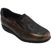 Schuhe Damen Slipper Doctor Cutillas Damenschuh simuliert herausnehmbare Einl Braun