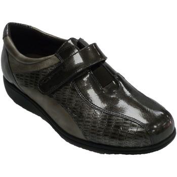 Schuhe Damen Derby-Schuhe Doctor Cutillas Klett-Damenschuh speziell für Einlegesoh Grau