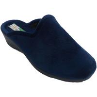 Schuhe Damen Hausschuhe Made In Spain 1940 Frauenpantoffeln öffnen sich von hinten, Blau