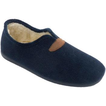 Schuhe Herren Hausschuhe Calzamur Herren Hausschuhe mit Wollfutter Calzamu Blau