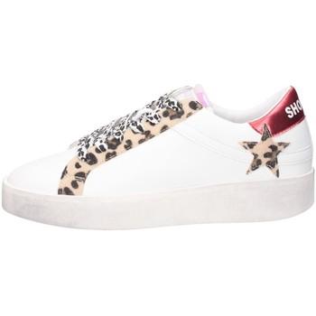 Schuhe Damen Sneaker Low Shop Art SA030062 Sneaker Frau WEISS / LEOPARD WEISS / LEOPARD