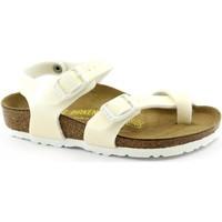 Schuhe Kinder Sandalen / Sandaletten Birkenstock BIR-RRR-371593-WH Bianco