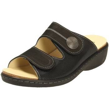 Schuhe Damen Pantoffel Longo Bequem-Pantolette,/schw 1030986 0 schwarz
