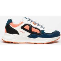 Schuhe Damen Sneaker Low Asfvlt Baskets Femme  Concrete blanc/bleu/corail