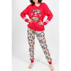 Kleidung Damen Pyjamas/ Nachthemden Admas Innenanzug Pyjamahose Mickey Basic rot Sand