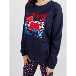 Kleidung Damen Pyjamas/ Nachthemden Admas Homewear-Pyjamahose Plüschhose LouLou Stars navy Blau Marine