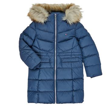 Kleidung Mädchen Daunenjacken Tommy Hilfiger KG0KG05397-C87-C Marine