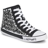 Schuhe Damen Sneaker High Ed Hardy RESOUDRE Schwarz / Weiss