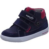 Schuhe Mädchen Sneaker High Superfit Maedchen Stiefelette Leder \ MOPPY 1-000350-8010 blau