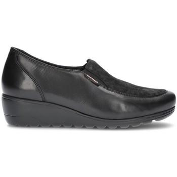 Schuhe Damen Richelieu Mephisto MOBILS BERTRANE MOCCASINS SCHWARZ