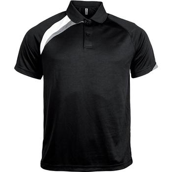 Kleidung Herren Polohemden Proact Polo manches courtes  Sport noir/blanc/gris clair