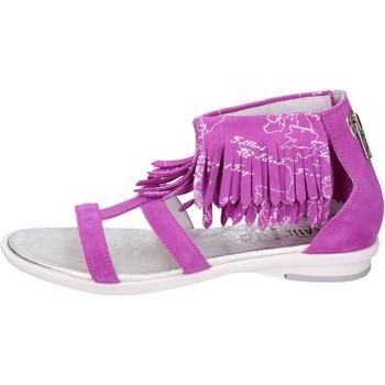 Schuhe Mädchen Sandalen / Sandaletten 1A Classe Alviero Martini Sandalen Wildleder Lila