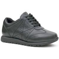 Schuhe Damen Sneaker Low Calzamedi bequeme Sport Frau SCHWARZ