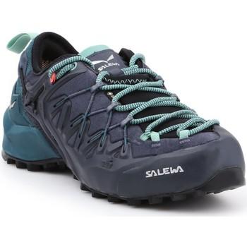 Schuhe Damen Wanderschuhe Salewa Trekkingschuhe  WS Wildfire Edge GTX 61376-3838 schwarz, grün, dunkelblau