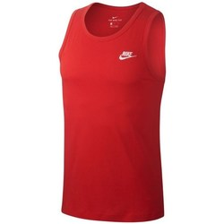 Kleidung Herren Tops Nike Club Tank Rot