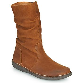 Schuhe Damen Boots Casual Attitude NIELOO Camel