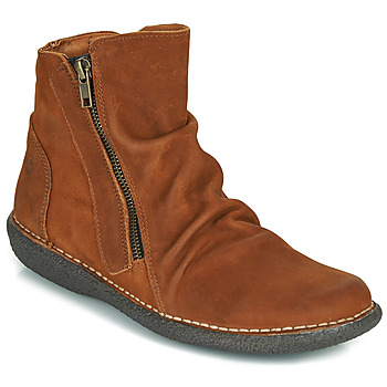 Schuhe Damen Boots Casual Attitude NELIOO Braun