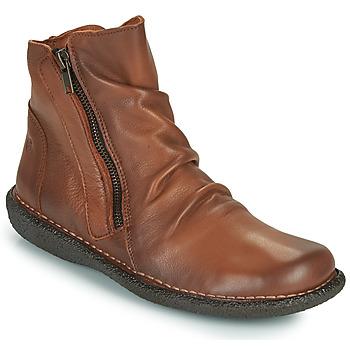 Schuhe Damen Boots Casual Attitude NELIOO Camel