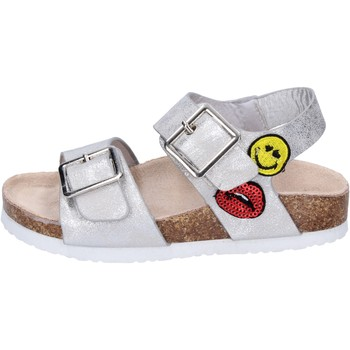 Schuhe Mädchen Sandalen / Sandaletten Smiley BK509 Silber