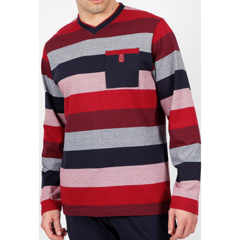 Kleidung Herren Pyjamas/ Nachthemden Admas For Men Homewear-Pyjamahosen Riesen-Burgunder Admas Tarnung