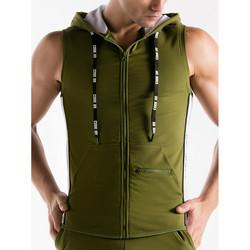 Kleidung Herren Trainingsjacken Code 22 Ärmellose Kapuzenjacke Thrust Code22 Lavendel