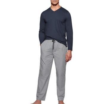 Kleidung Herren Pyjamas/ Nachthemden Impetus 1523310 E97 Blau