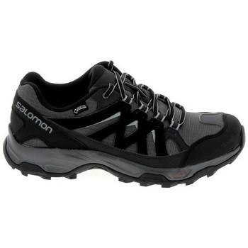 Schuhe Wanderschuhe Salomon Effect GTX Noir Gris Schwarz
