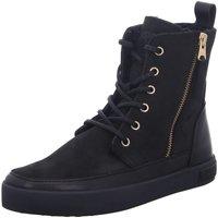 Schuhe Damen Boots Blackstone Stiefeletten D.Boots warm CW96 Black schwarz