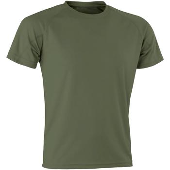 Kleidung Herren T-Shirts Spiro SR287 Militärgrün