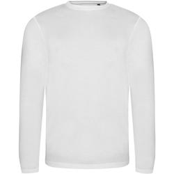 Kleidung Herren Langarmshirts Awdis JT002 Weiß