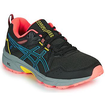 Schuhe Damen Laufschuhe Asics VENTURE 8 Schwarz / Blau